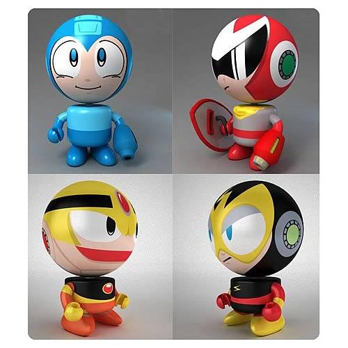 Mega Man Bobble Budd Bobble Head Set