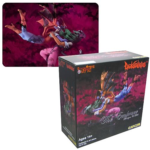 Darkstalkers Morrigan and Lilith The Embrace Statue