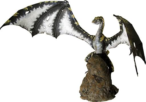 24-inch Winged Dragon Statue