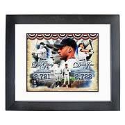 MLB Derek Jeter and Lou Gehrig Yankees Hit Leaders Photo