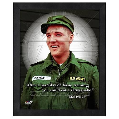 Elvis Prelsey ProQuote Basic Training Framed Photo