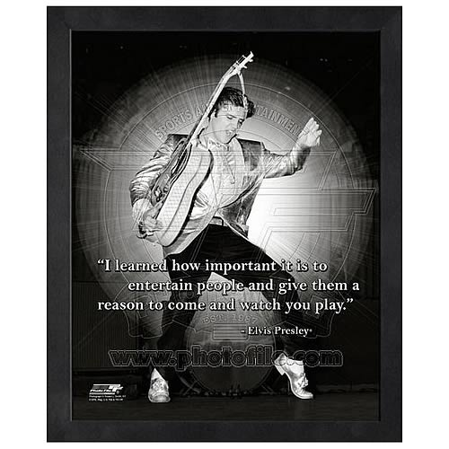 Elvis Presley ProQuote Entertain People Framed Photo