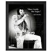 Elvis Presley ProQuote Vegas Framed Photo
