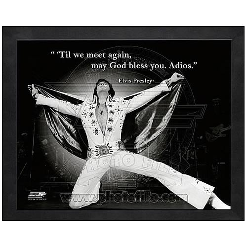 Elvis Presley Adios Framed Photo