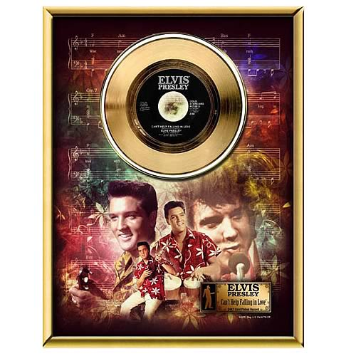 Elvis Presley Can't Help Falling in Love 45 rpm Gold Record