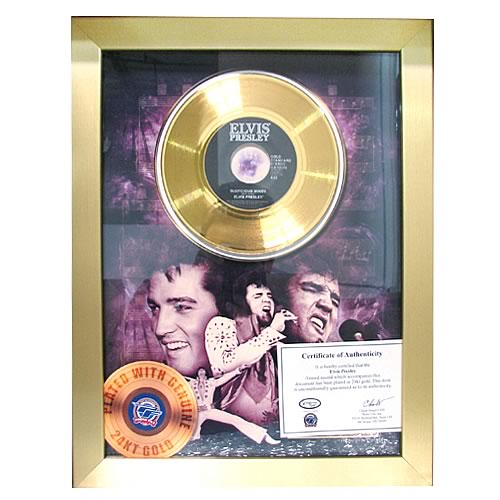 Elvis Presley Suspicious Minds 45 rpm Gold Record