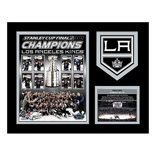 NHL Stanley Cup Champions L.A. Kings Commemorative Plaque