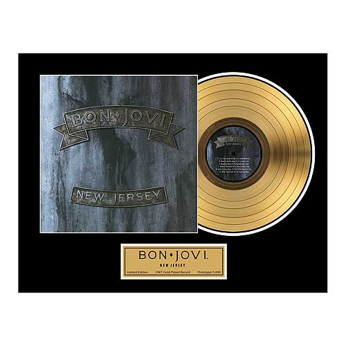 Bon Jovi New Jersey Framed Gold Record