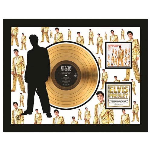 Elvis Presley 50,000 Fans 24kt Gold LP Record