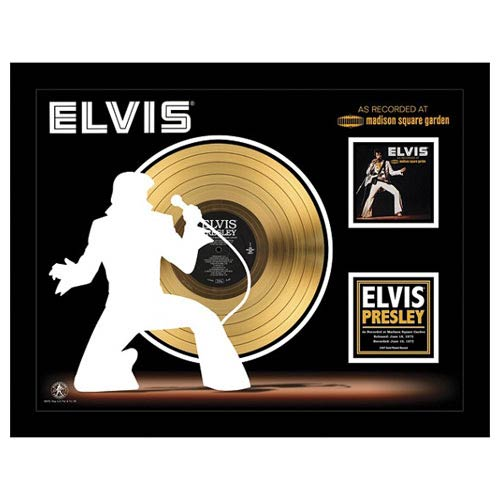 Elvis Presley Recorded at MSG 24kt Gold LP Record