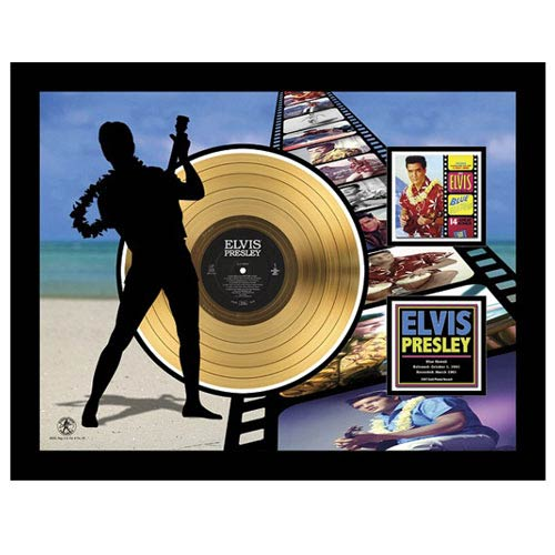 Elvis Presley Blue Hawaii 24kt Gold LP Record