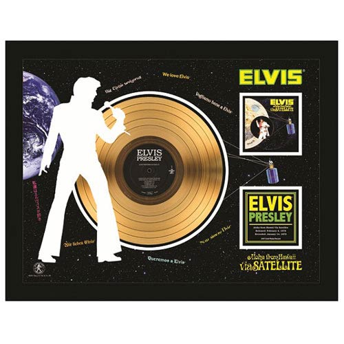 Elvis Presley Aloha From Hawaii 24kt Gold LP Record