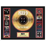 KISS The First Decade Framed Gold Record