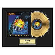 Def Leppard Pyromania Framed Gold Record