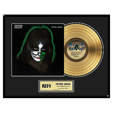 KISS Peter Criss Framed Gold Record