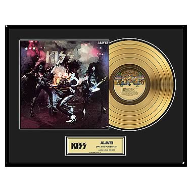KISS Alive! Framed Gold Record