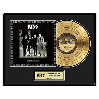 KISS Dressed To Kill Framed Gold Record