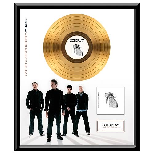 Coldplay A Rush of Blood To The Head Framed Gold Record