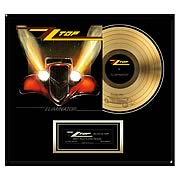 ZZ Top Eliminator Framed Gold Record