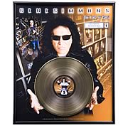 Gene Simmons The Lord of Rock Framed Gold Record