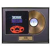 Rush 2112 Framed Gold Record