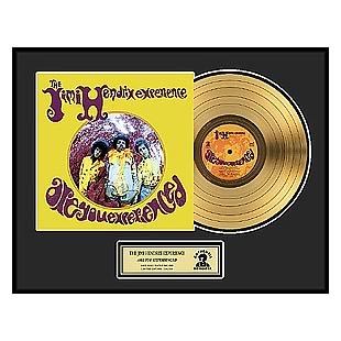 Jimi Hendrix Are You Experienced Framed Gold Record