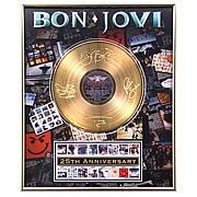 Bon Jovi 25th Anniversary Framed Gold Record