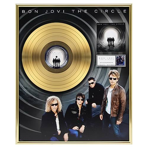Bon Jovi The Circle Framed Gold Record
