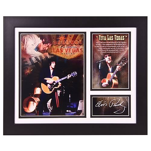 Elvis Presley Viva Las Vegas Framed Photo Presentation