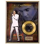Elvis Presley If I Can Dream Framed Gold Record