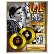 Elvis Presley Recording Sessions LE Framed Gold Record