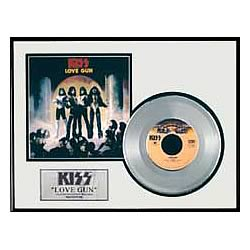 KISS Love Gun Framed Platinum Edition Record
