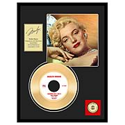 Marilyn Monroe Diamonds Are A Girl's Best Friend Gold Record