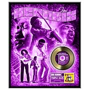 Jimi Hendrix Purple Haze Framed Gold Record