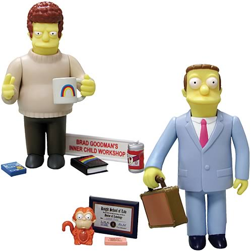Simpsons Brad Goodman and Lionel Hutz Figure 2-Pack