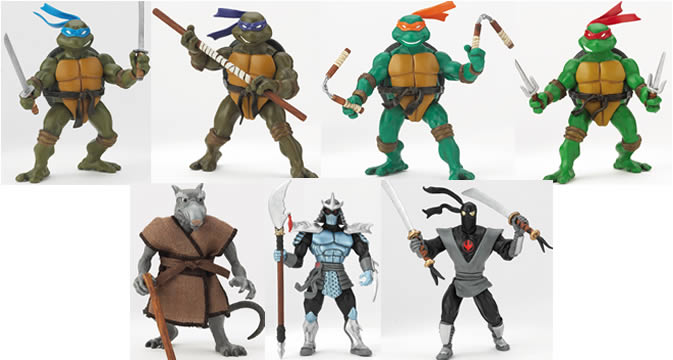 Ninja Turtles Figures Wave 1