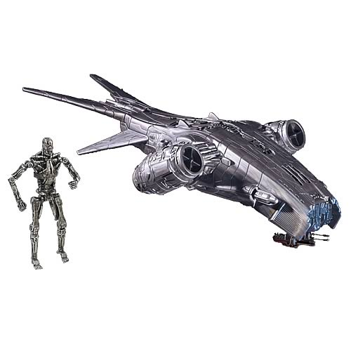 Terminator Salvation Hunter Killer Vehicle and T-700 Figure