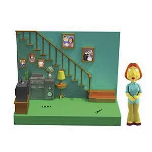 Family Guy Living Room with Lois Action Figure Playset