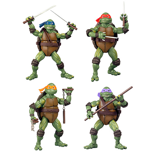 Teenage Mutant Ninja Turtles Retro Movie Action Figure Set