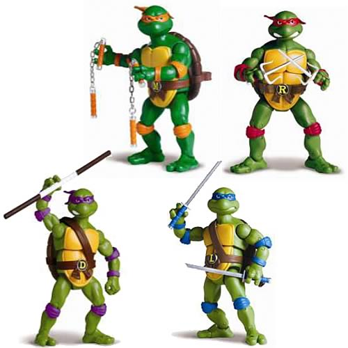 Teenage Mutant Ninja Turtles Toys 1 : Teenage mutant ninja turtles classic figures wave
