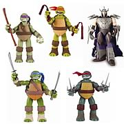 TMNT Deluxe Power Sound Effects Action Figures Wave 1 Case