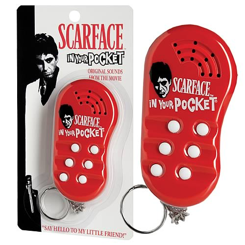 Scarface In Your Pocket Electronic Talking Keychain