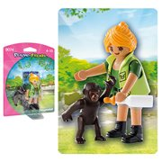 Playmobil 9074 Zookeeper with Baby Gorilla Action Figure