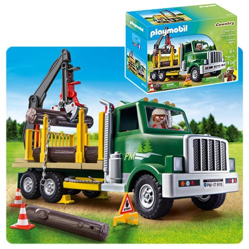 playmobil 9115 timber truck playmobil playmobil vehicles at entertainment earth. Black Bedroom Furniture Sets. Home Design Ideas