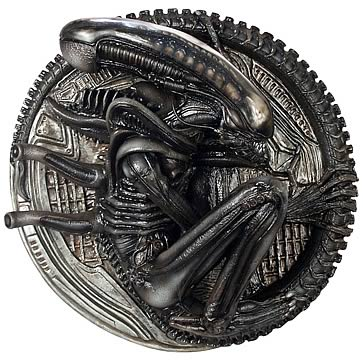 Alien Polystone Wall Plaque