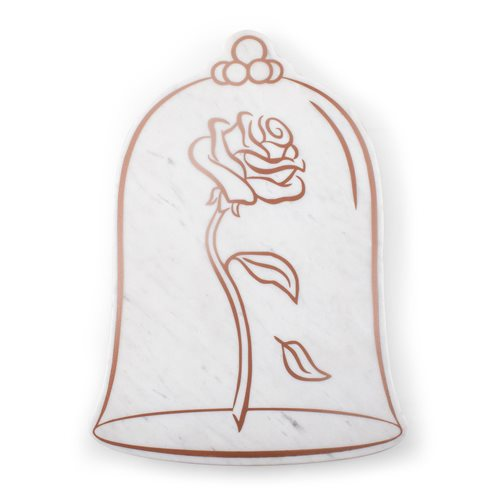 Beauty and the Beast Marble Serving Stone