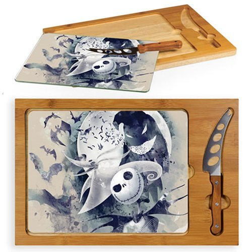 Nightmare_Before_Christmas_Jack_and_Zero_Glass_Top_Serving_Tray_and_Knife_Set