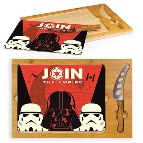 Star Wars Empire Icon Glass Top Serving Tray and Knife Set