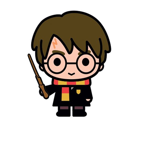 Harry Potter with Wand Charm Mega Magnet