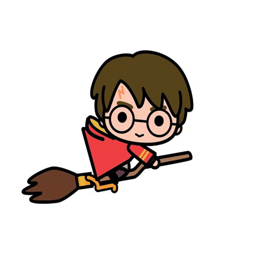 Harry Potter on Broom With Scarf Charm Mega Magnet